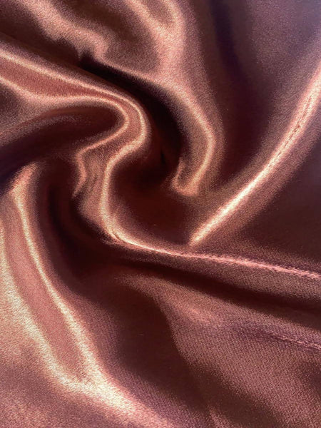 Bronze Satin Backed Crepe - Deadstock fabric on AmoThreads