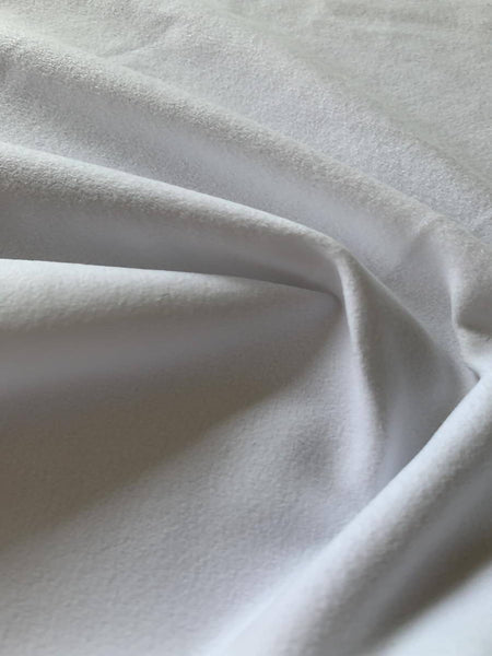 White one sided brushed - Deadstock fabric on AmoThreads