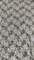 Ivory stretch & Gathered Lace - Deadstock fabric on AmoThreads