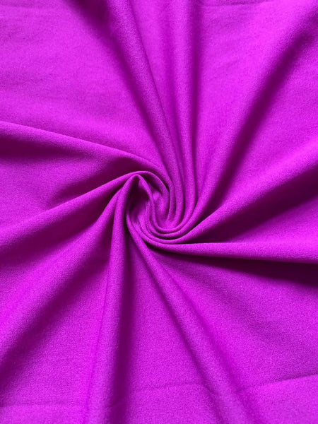 Bright Purple Knitted Crepe - Deadstock fabric on AmoThreads