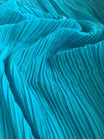 Kingfisher pleated Chiffon - Deadstock fabric on AmoThreads