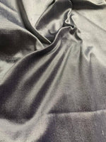 Silver grey Silk dupion - 100% Silk - Deadstock fabric on AmoThreads