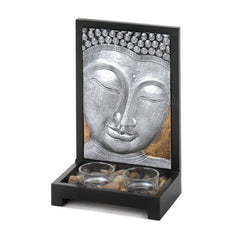 Candle Holder:Buddha Plaque Decor