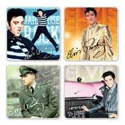 Bar Tools:Coaster Set-Elvis Presley 4 Pc. Ceramic