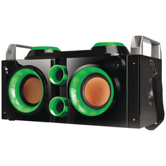 Boom Box:Rechargeable Bluetooth Party Pa (Green) Qfx