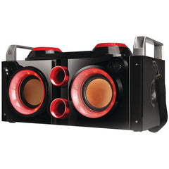 Boom Box:Rechargeable Bluetooth Party Pa (Red) Qfx