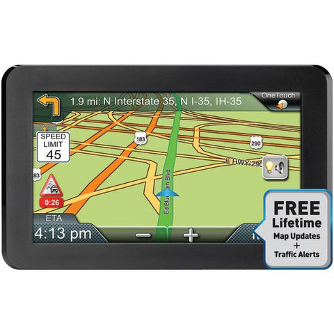 GPS System:Gps Device With Free Lifetime Maps & Traffic Updates Magellan Roadmate 7""