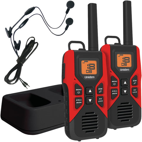 2Way Radio:Uniden 30-Mile Frs And Gmrs Radios With Headsets