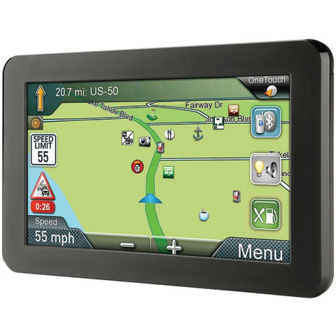 GPS System:Gps Navigator With Bluetooth & Free Lifetime Maps & Traffic Updates Magellan Roadmate 7""