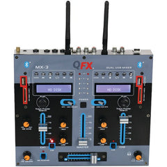 DJ Equipment:2 Channel Mx 3 Professional Mixer Qfx