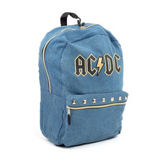 Backpack:AC/DC Denim Studded Backpack