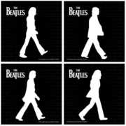 Bar Tools:Coaster Set-Beatles Abbey Road Set of 4