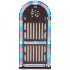 Speaker System:Classic Wooden Jukebox AM/FM Radio with Bluetooth(R)SYLVANIA SRCD806