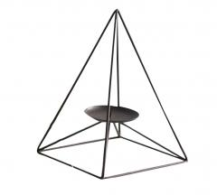 Candle Holder:Blancho Triangle Geometric Candlestick Retro Iron Home Decoration
