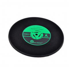 Bar Tools:Coasters-Set of 4 Creative Music CD Model Table Green