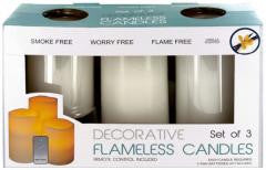 Candle Set:Flameless Vanilla Candles with Remote Control Case Pack 2