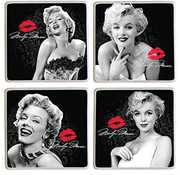 Bar Tools:Coaster Set-Marilyn Monroe 4 Piece Ceramic