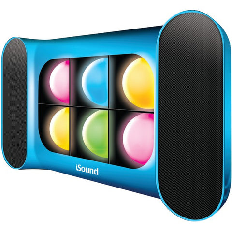 Speaker:Dock Iglow Pro Bluetooth w/Dancing Lights and Rechargable Battery (Blue) Dreamgear