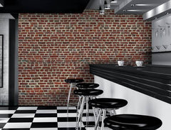 Wallpaper Mural:Red Brick Wall Giant