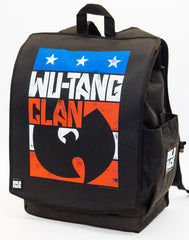 Backpack:Wu-Tang Clan Red White Blue Logo Backpack