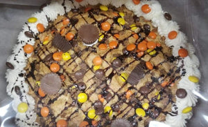 Cookie Cake Reeses Cups and Pieces