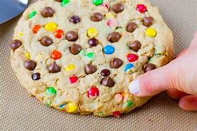 M & M Chocolate Chip Cookie