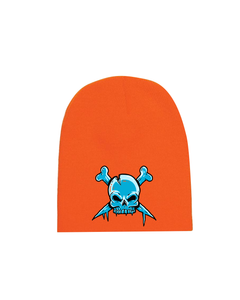 Skull Cap Beanie - Orange