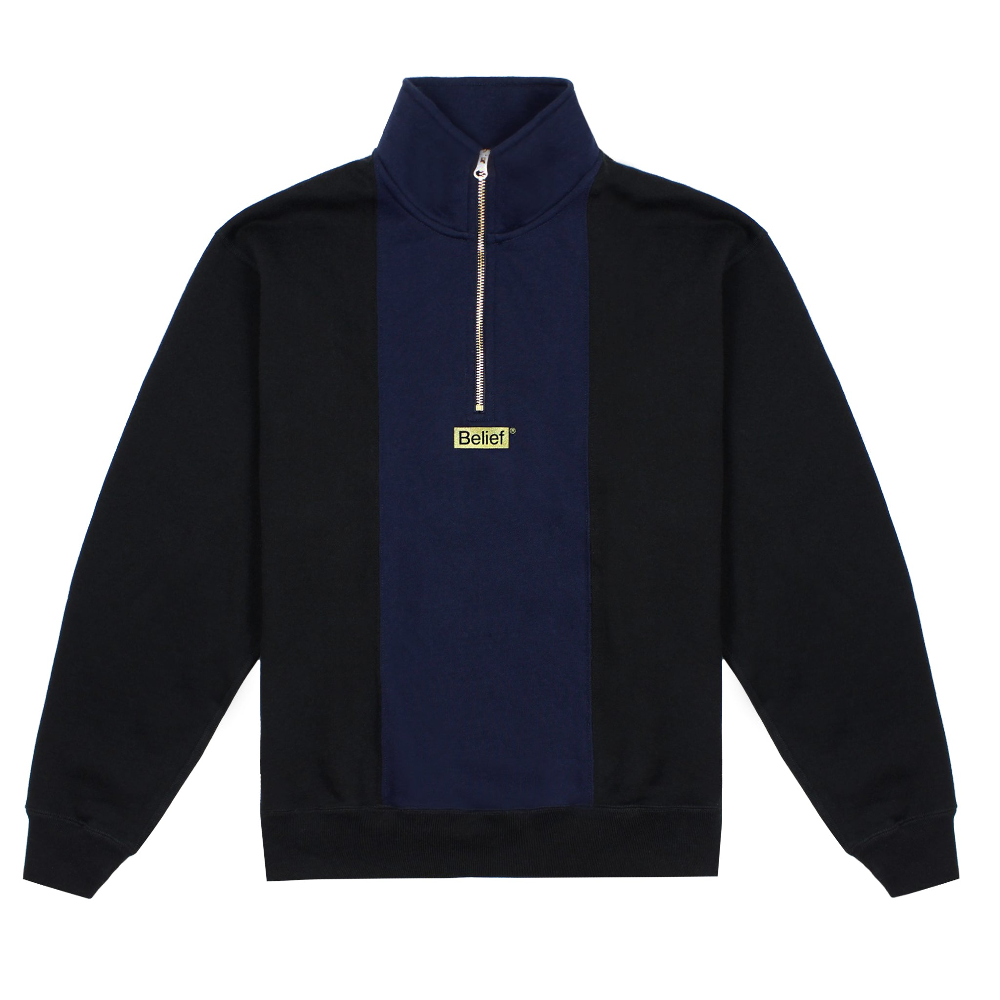 Logo Premium 1/4 Zip - Black/Navy