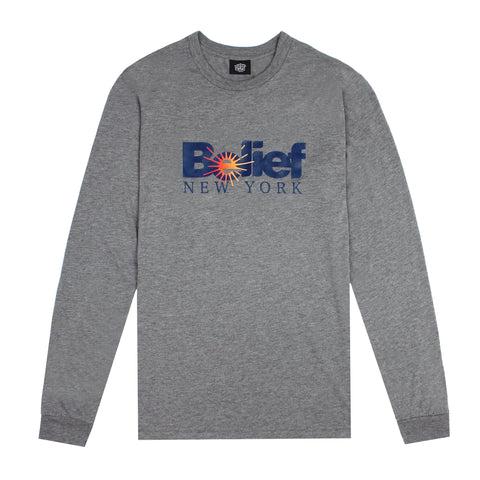 Sunrise L/S Tee - Tri-Heather