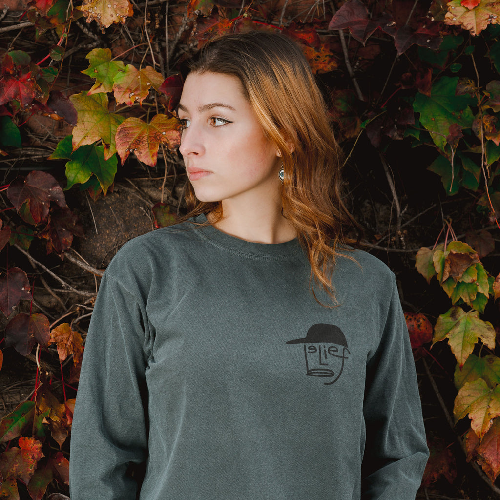 Typeface L/S Tee - Spruce