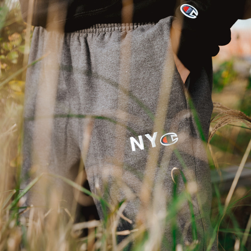 NYC Champion™ Fleece Pants - Charcoal Heather
