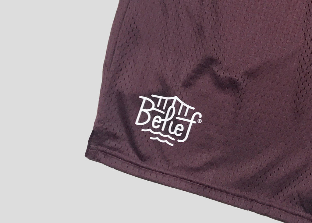 Triboro Champion™ Mesh Shorts - Burgundy