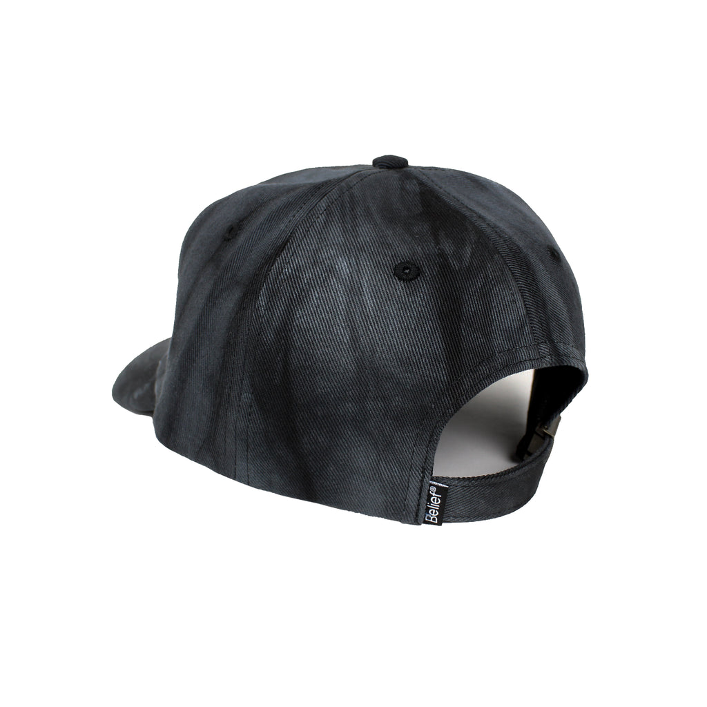 Tie Dye Logo 6 Panel - Black