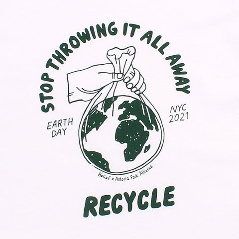 Earth Day Longsleeve- White
