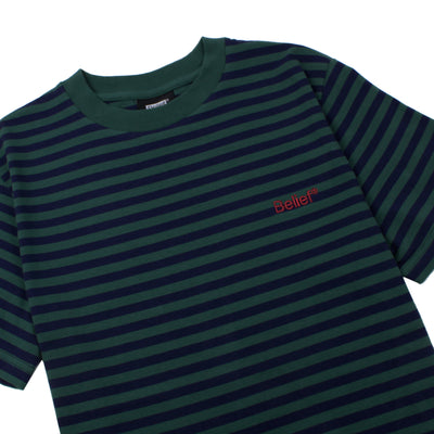 Newport Striped Tee - Hunter/Navy