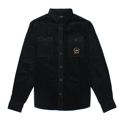 Woodside Corduroy Overshirt - Black