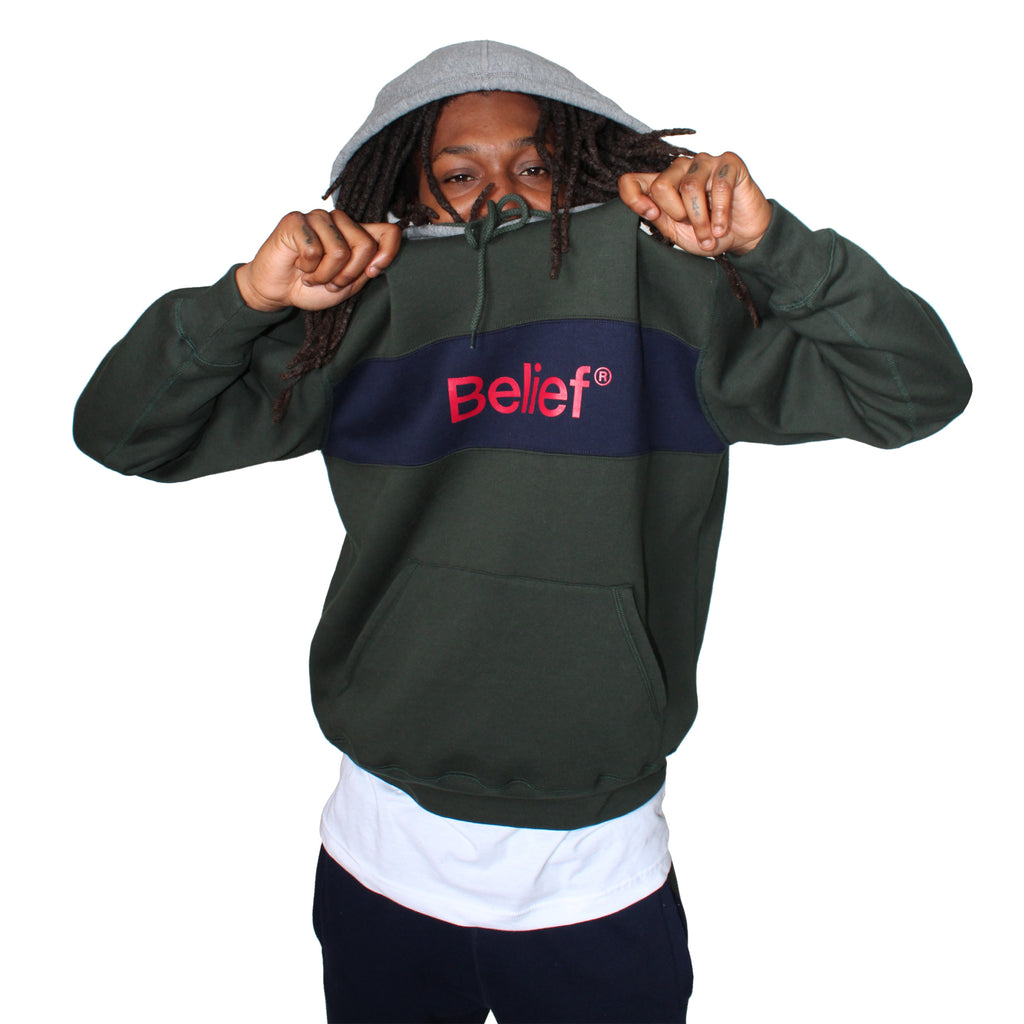 a7b6689f4cb335 Academic Premium Hoody - Park Green – Belief NYC