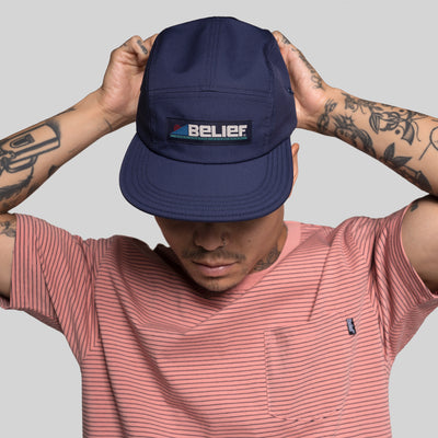 Abstract 5 Panel - Navy