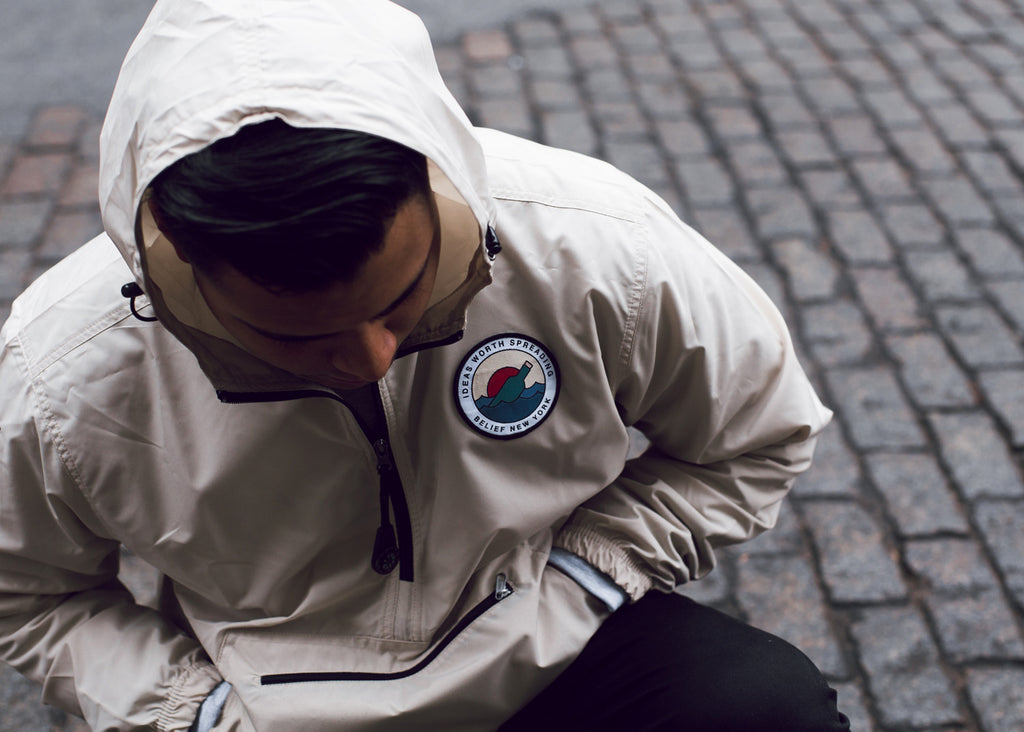 Message Windbreaker - Stone