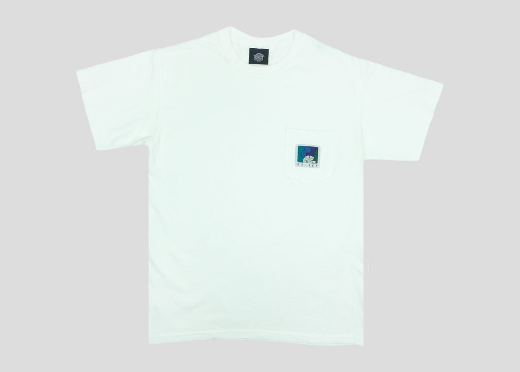 Northern Lights Pocket Tee - White