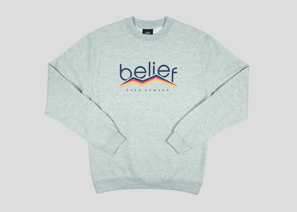 Peak Crewneck - Ash Heather