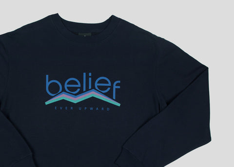 Peak Crewneck - Navy
