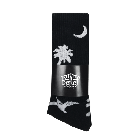 Prehistoric Sock - Black