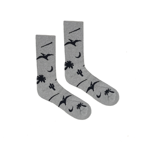 Prehistoric Sock - Heather Grey