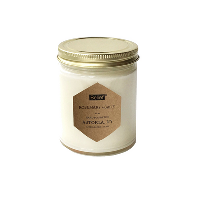 Belief® Candle - Rosemary + Sage