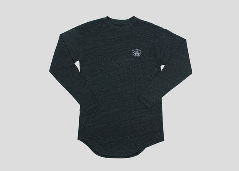 Triboro L/S Scoop Tee - Tri Black