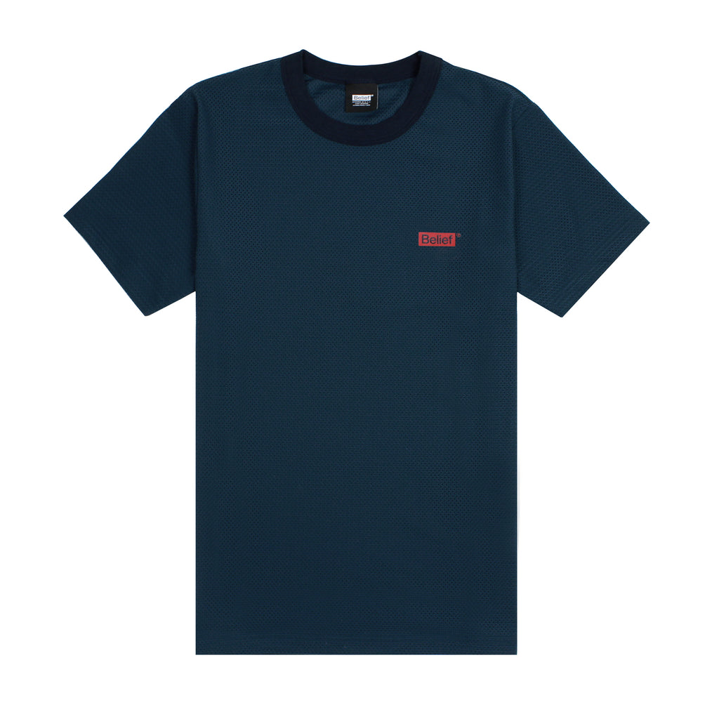 Box Logo Mesh Tee - Dark Teal