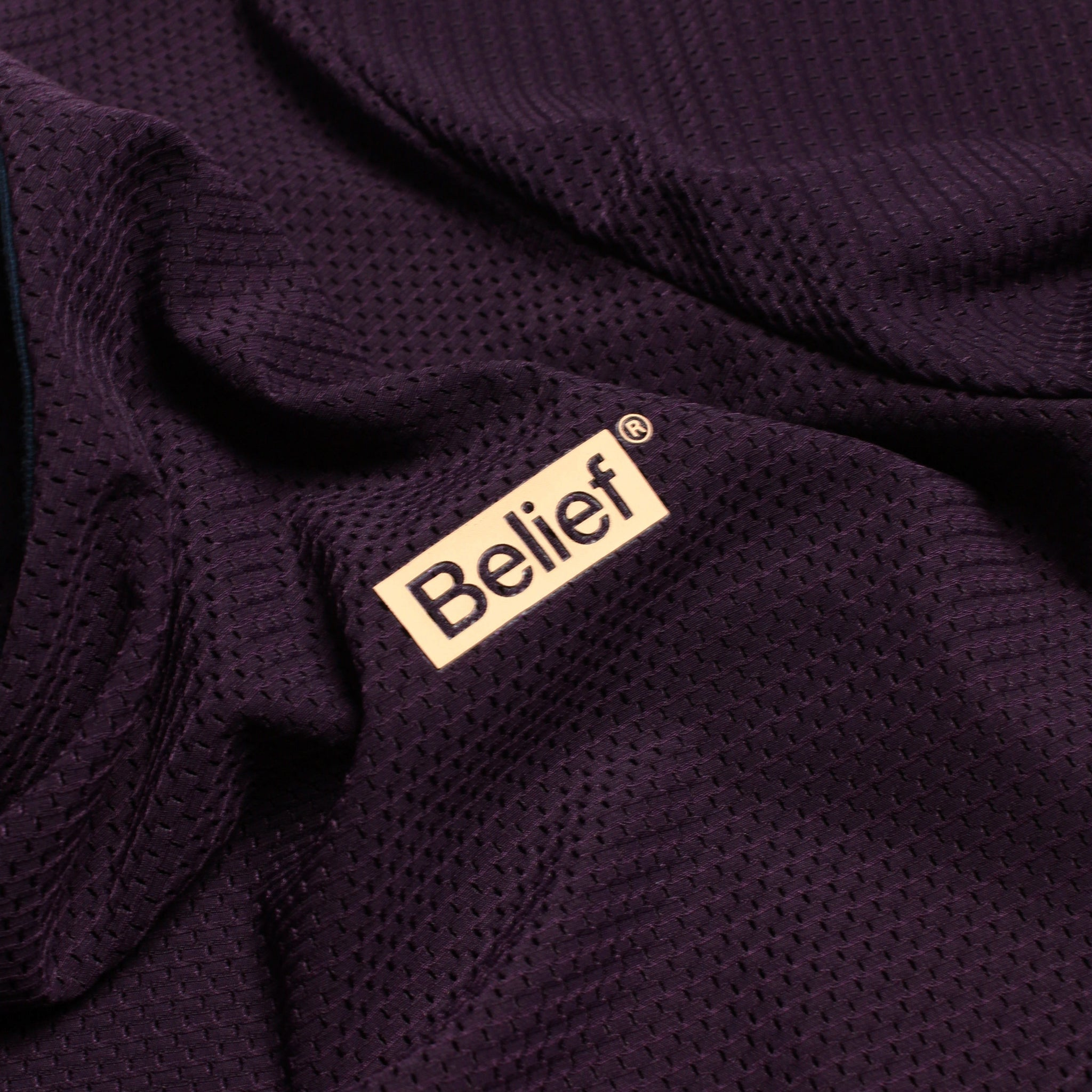 Box Logo Mesh Tee - Blackberry