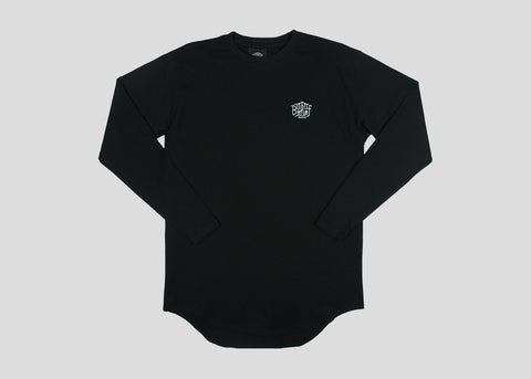 Triboro L/S Scoop Tee - Black