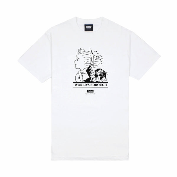 World's Borough Tee - White